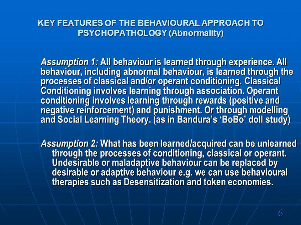 Main Assumptions : 1.