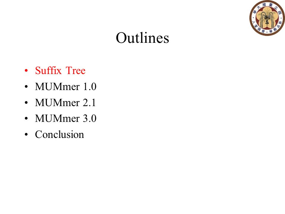 Optimized Suffix-Tree The most significant improvement.