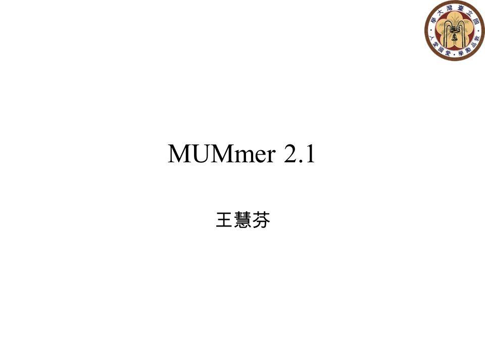 MUMmer 2.1 王慧芬