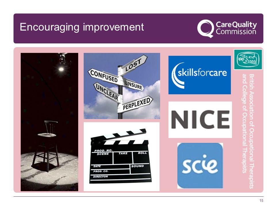 15 Encouraging improvement