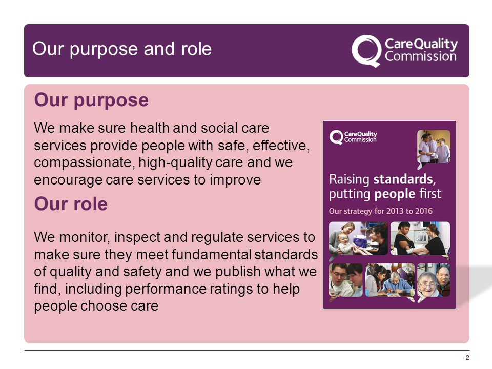 3 Ambition for social care: The Mum Test (or Anyone You Love test) Is it good enough for my Mum.