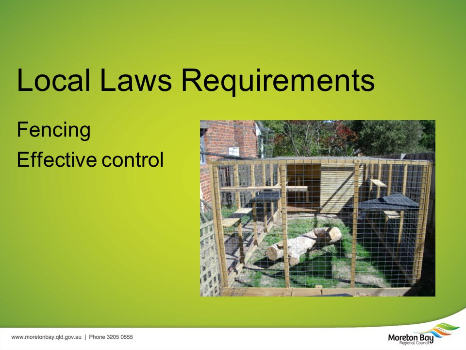 Local Laws Requirements Fencing Effective control