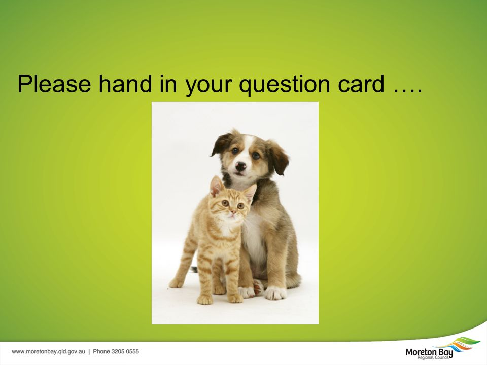 Please hand in your question card ….