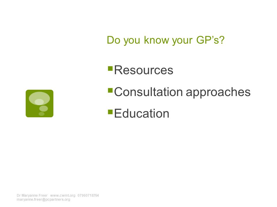 Do you know your GP's.