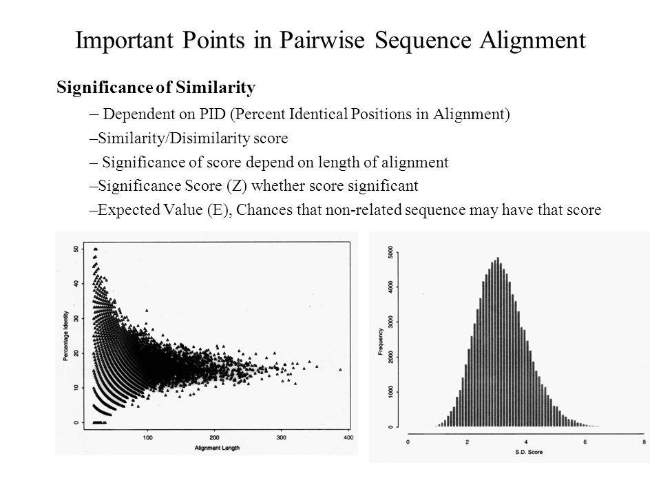 Alignment of Multiple Sequences Extending Dynamic Programming to more sequences –Dynamic programming can be extended for more than two –In practice it requires CPU and Memory (Murata et al 1985) – MSA, Limited only up to 8-10 sequences (1989) –DCA (Divide and Conquer; Stoye et al., 1997), 20-25 sequences –OMA (Optimal Multiple Alignment; Reinert et al., 2000) –COSA (Althaus et al., 2002) Progressive or Tree or Hierarchical Methods (CLUSTAL-W) –Practical approach for multiple alignment –Compare all sequences pair wise –Perform cluster analysis –Generate a hierarchy for alignment –first aligning the most similar pair of sequences –Align alignment with next similar alignment or sequence