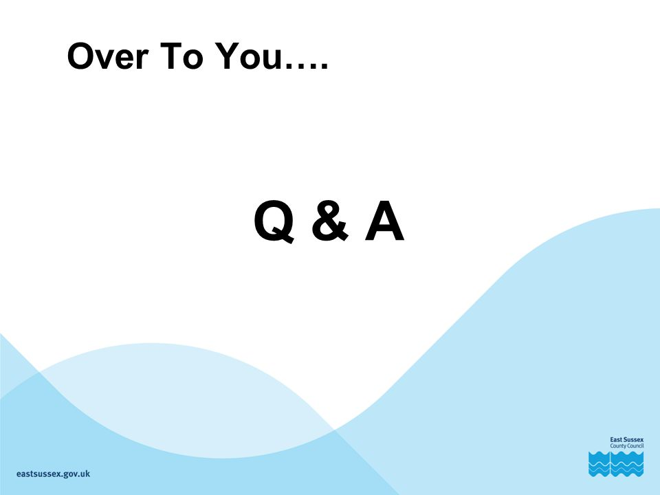 Over To You…. Q & A