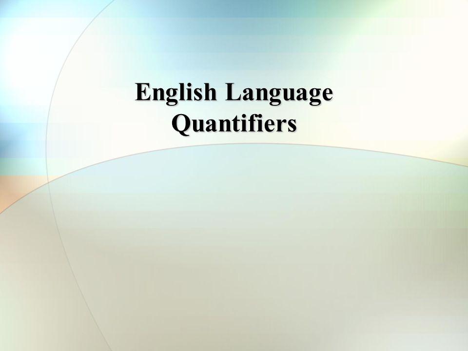 English Language Quantifiers