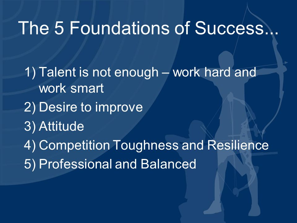 The 5 Foundations of Success...