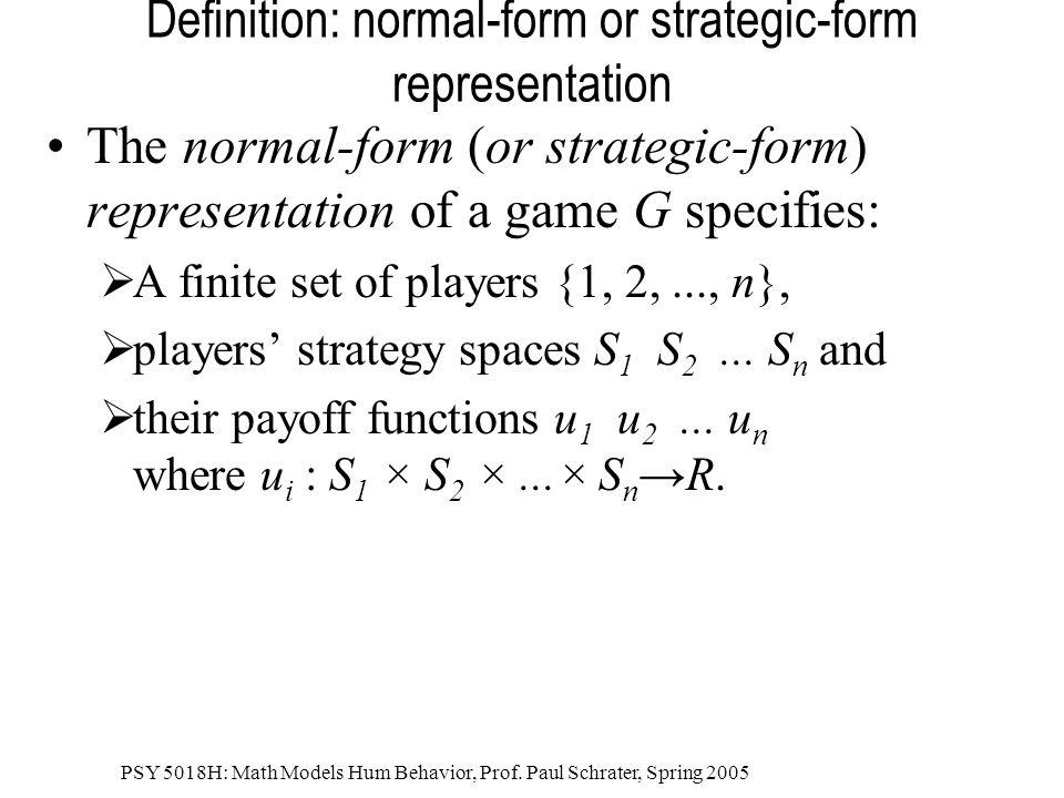PSY 5018H: Math Models Hum Behavior, Prof. Paul Schrater, Spring 2005 What is Fair? 1/4,1/4