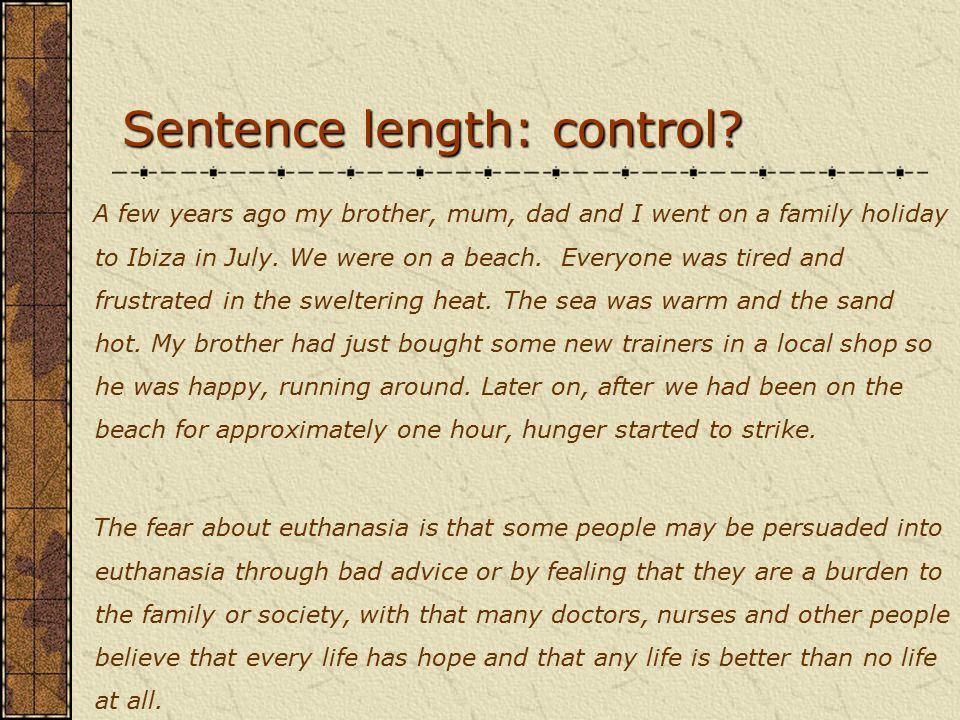 Sentence length: control.