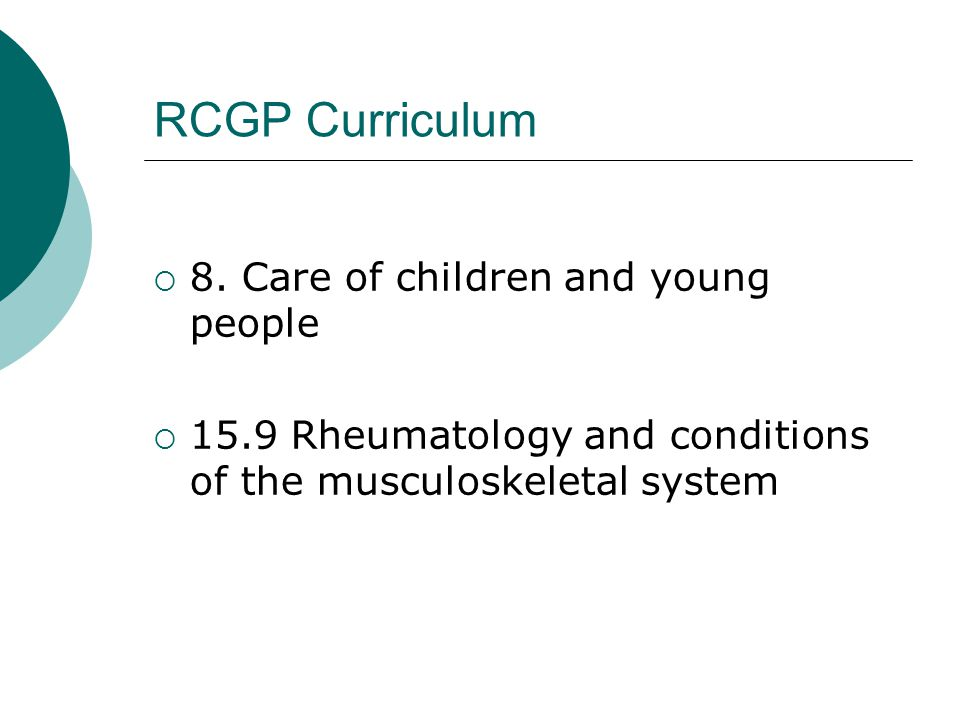 RCGP Curriculum  8.