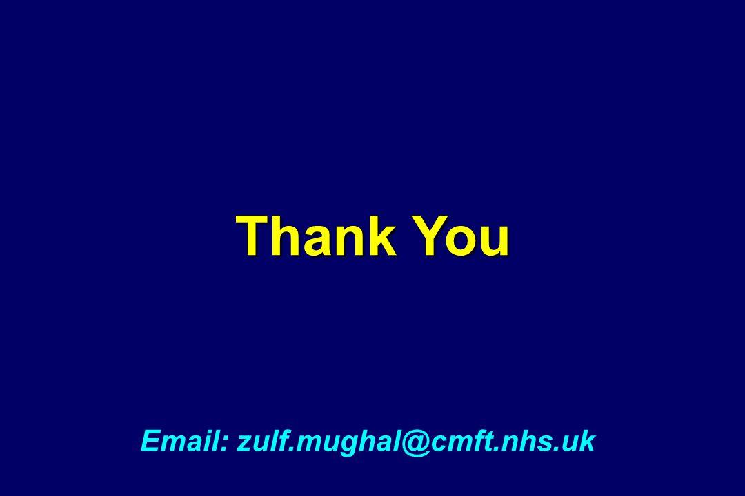 Thank You Email: zulf.mughal@cmft.nhs.uk