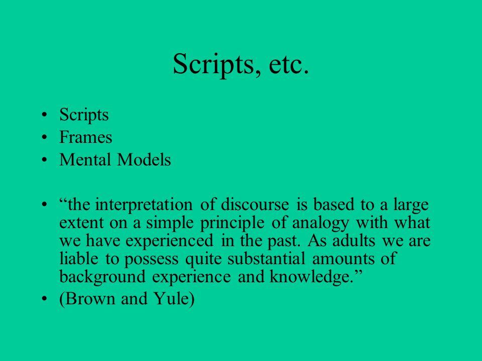 Scripts, etc.
