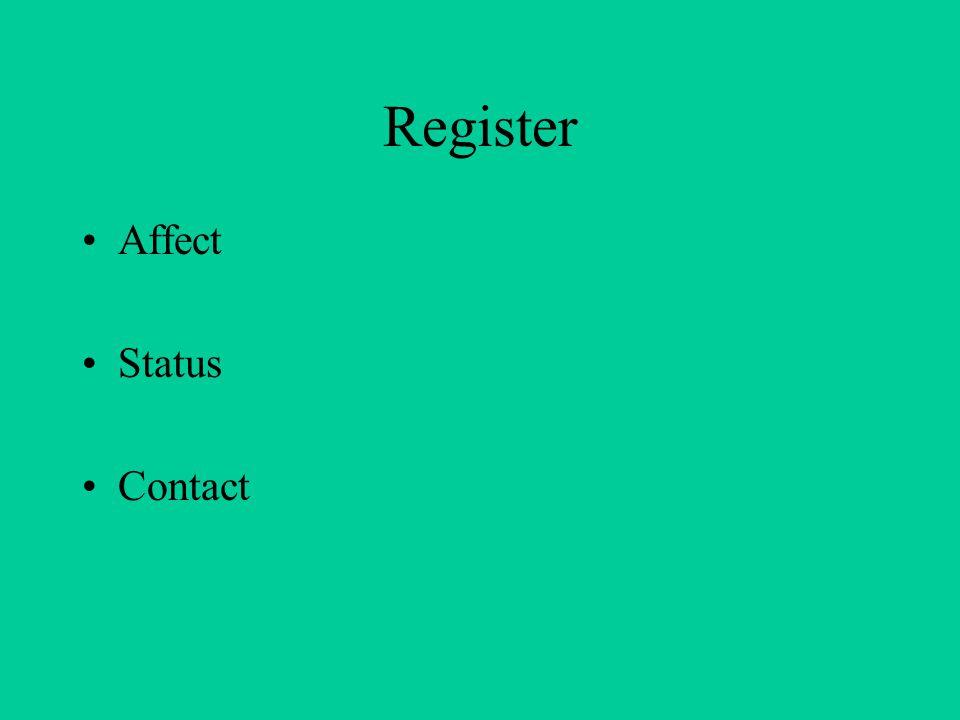 Register Affect Status Contact