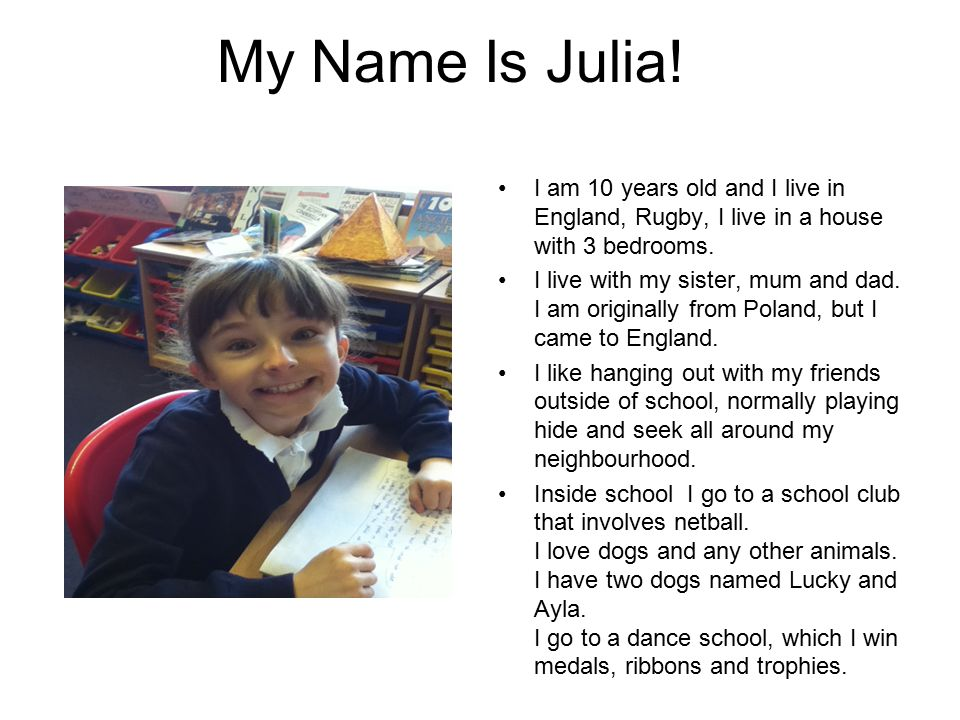 My Name Is Julia.