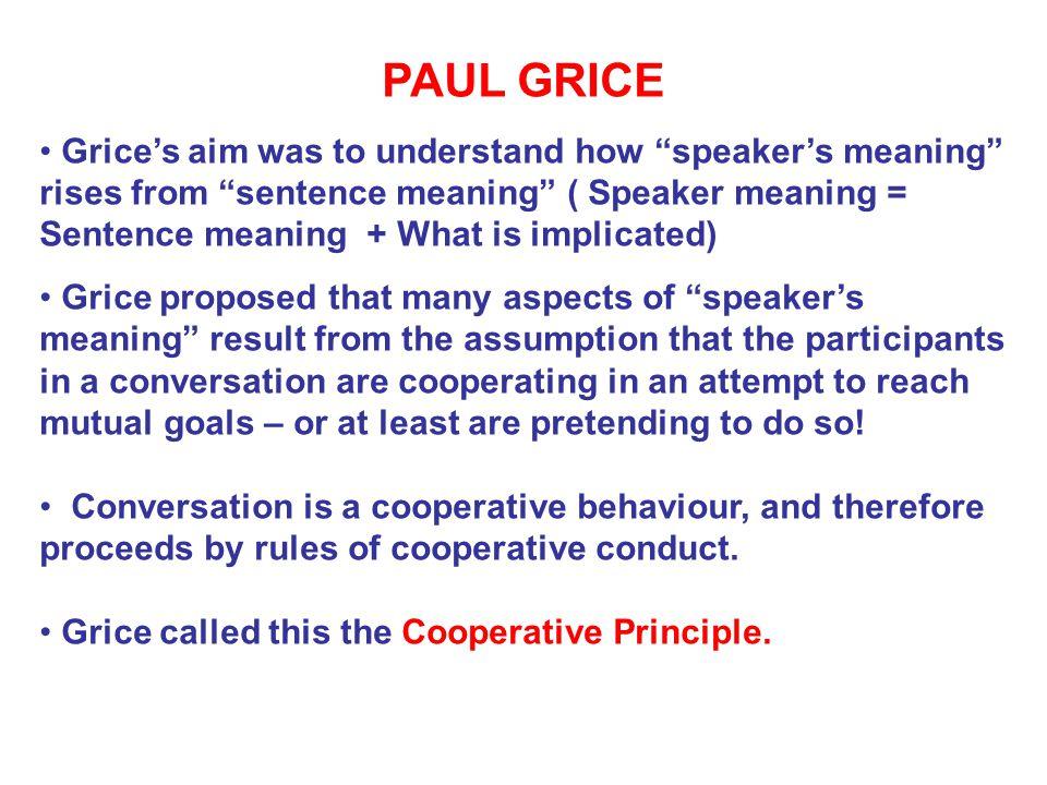 The Cooperative Principle.