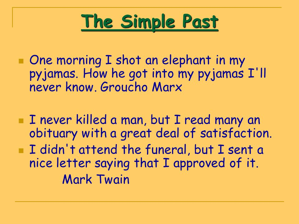 The Past Progressive The past progressive is often used with the simple past to show that one action was in progress when another action occurred.