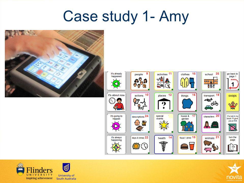 Case study 1- Amy