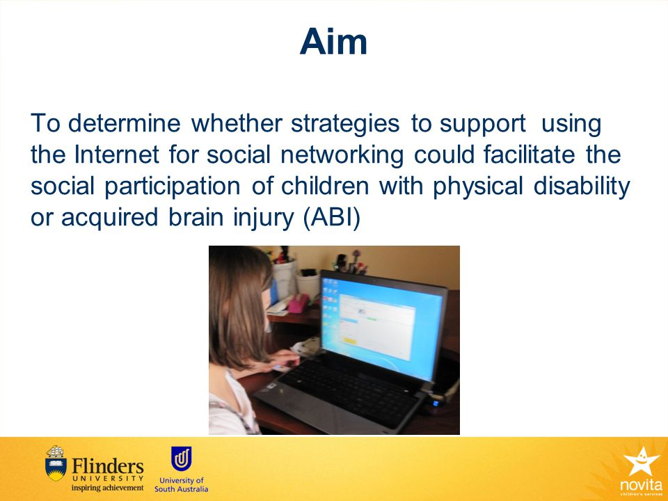 Inclusion criteria for Participants Children with acquired brain injury (ABI) or physical disability (PD) between 10-18 yrs Child, parent and/or therapist thinks that child might benefit Children need to be at symbolic level of communication; No severe cognitive difficulties