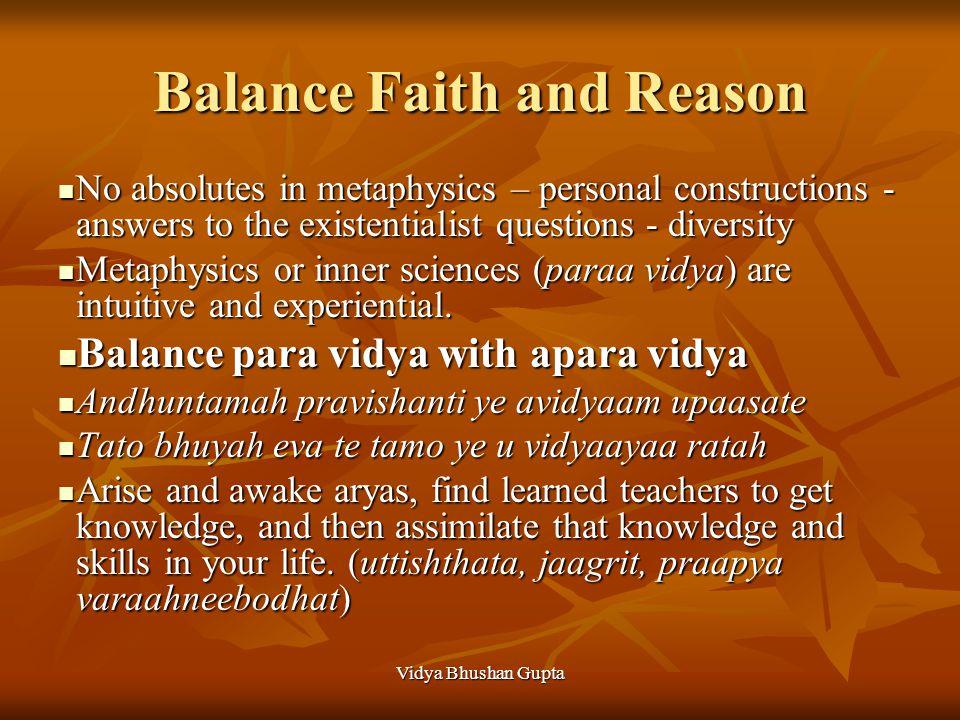 Vidya Bhushan Gupta Affirmation of Life Material Spiritualism Vayam syaam apatayo rayinaam Vayam syaam apatayo rayinaam Jeevema sharadh shatam vardhamanah Jeevema sharadh shatam vardhamanah Icchanti devaah sunvantaama na swapnaay sprihyanti yanti praamaad matandtaah (Samaveda 721) Icchanti devaah sunvantaama na swapnaay sprihyanti yanti praamaad matandtaah (Samaveda 721) Natures bounties favor those who are active in work and do not sleep excessively.