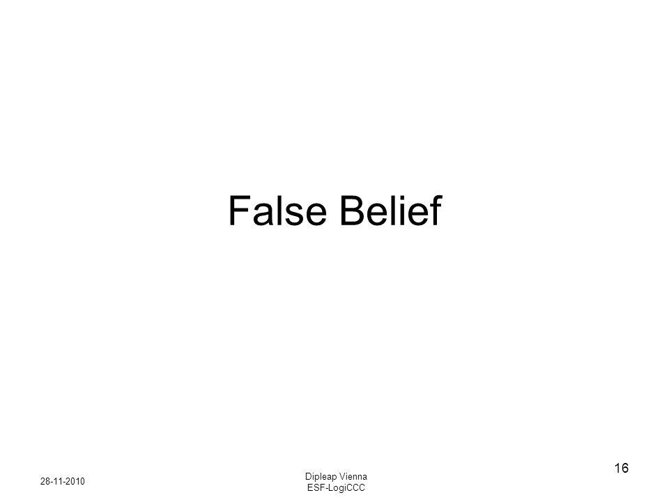 28-11-2010 Dipleap Vienna ESF-LogiCCC 16 False Belief