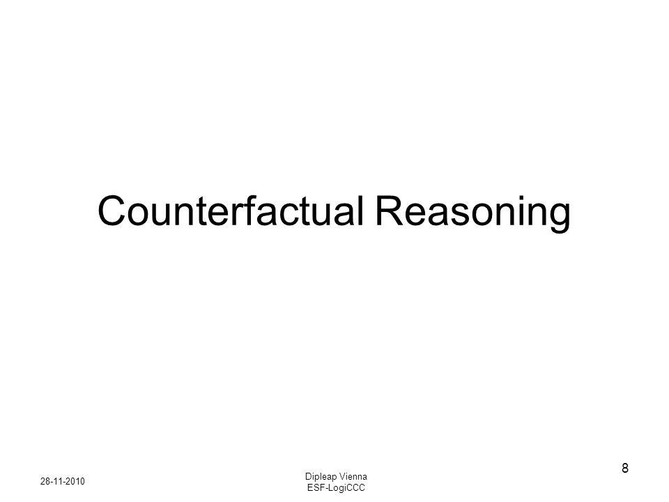 28-11-2010 Dipleap Vienna ESF-LogiCCC 8 Counterfactual Reasoning