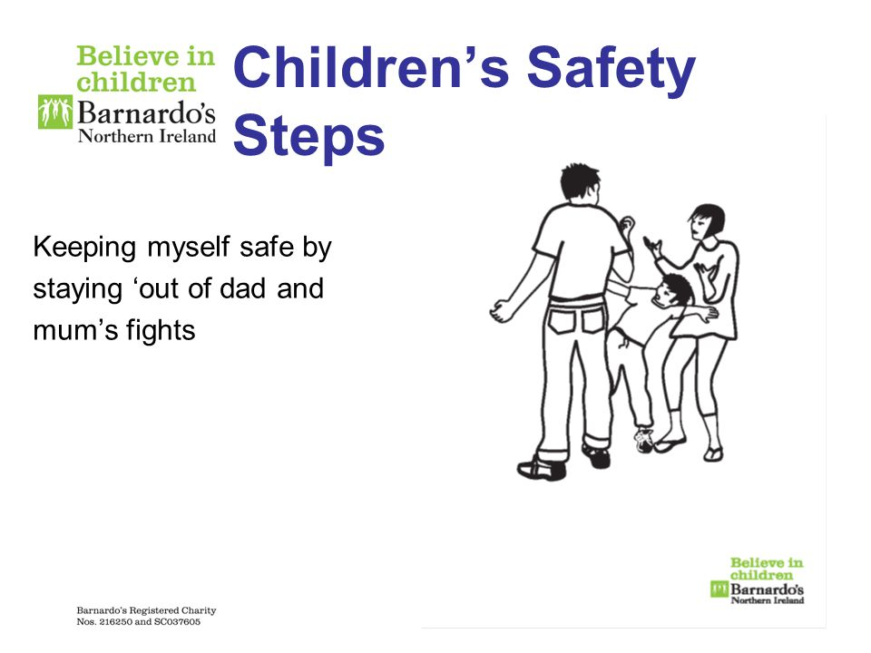 Children's Safety Steps Keeping myself safe by staying 'out of dad and mum's fights