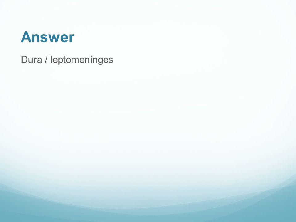 Answer Dura / leptomeninges