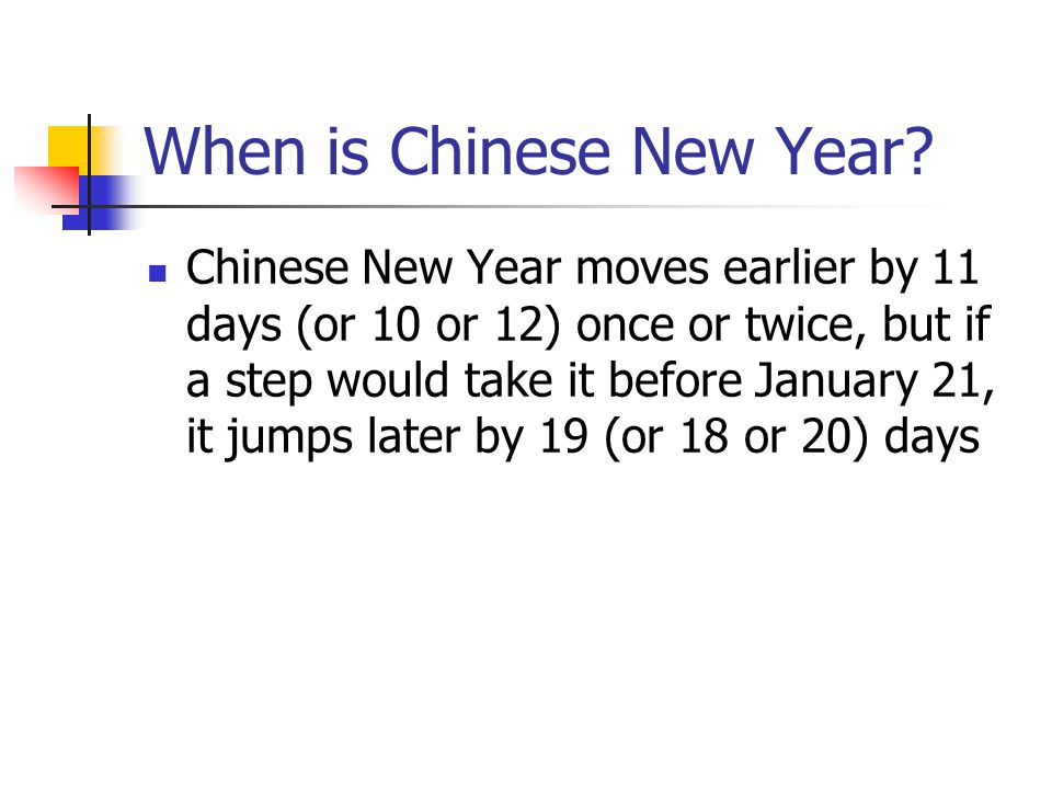 When is Chinese New Year.