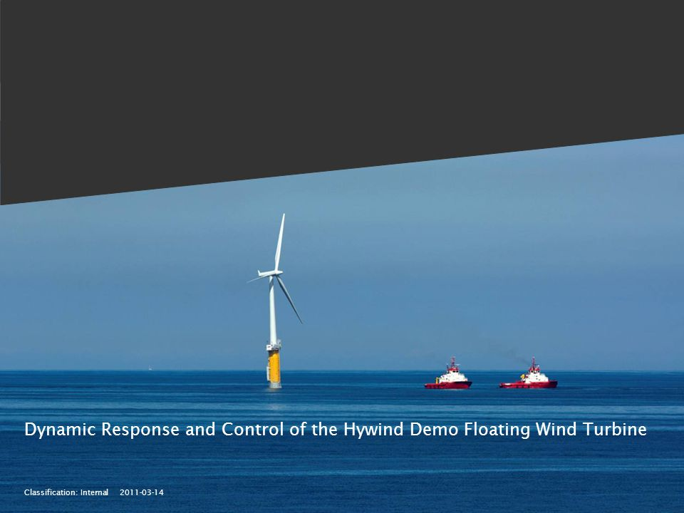 Classification: Internal 2011-03-14 Dynamic Response and Control of the Hywind Demo Floating Wind Turbine