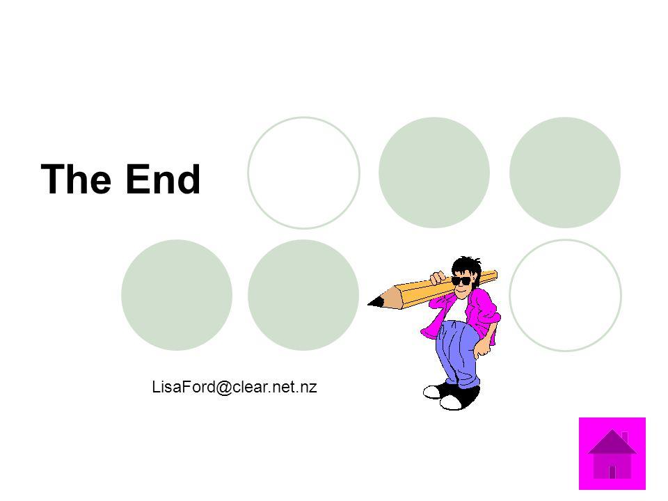 The End LisaFord@clear.net.nz