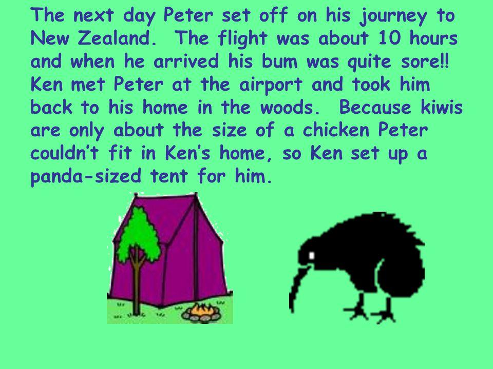 After unpacking, Ken made dinner for Peter.