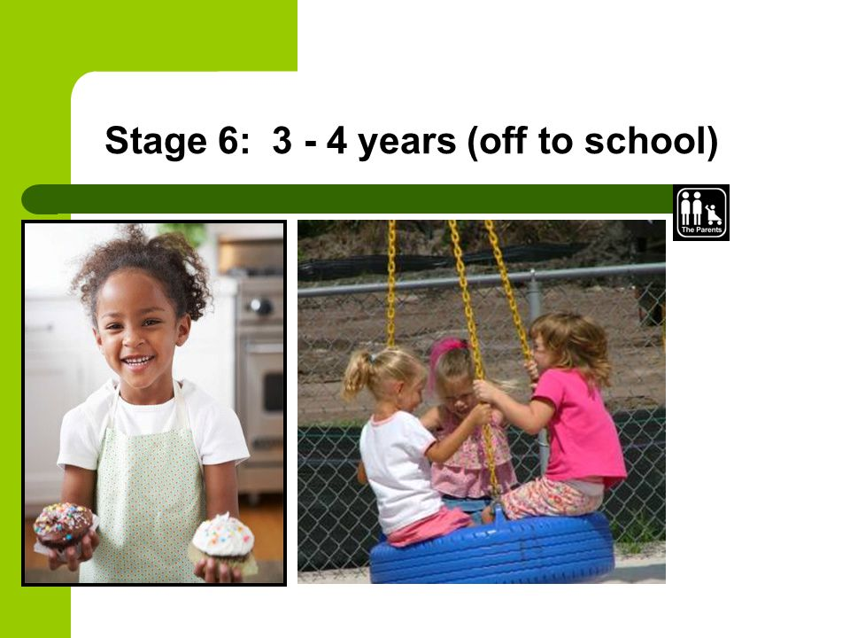 Stage 6: 3 - 4 years (off to school)