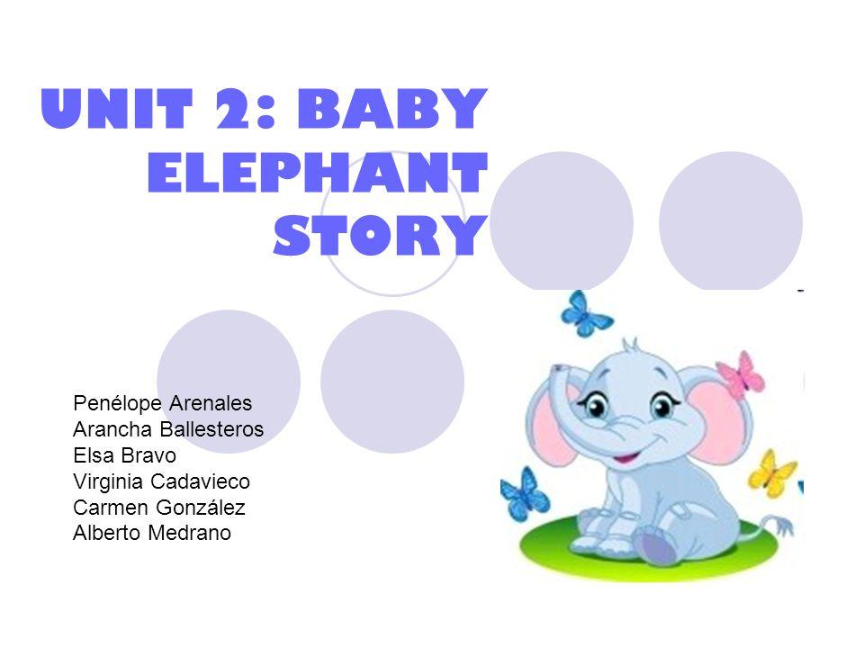 UNIT 2: BABY ELEPHANT STORY Penélope Arenales Arancha Ballesteros Elsa Bravo Virginia Cadavieco Carmen González Alberto Medrano