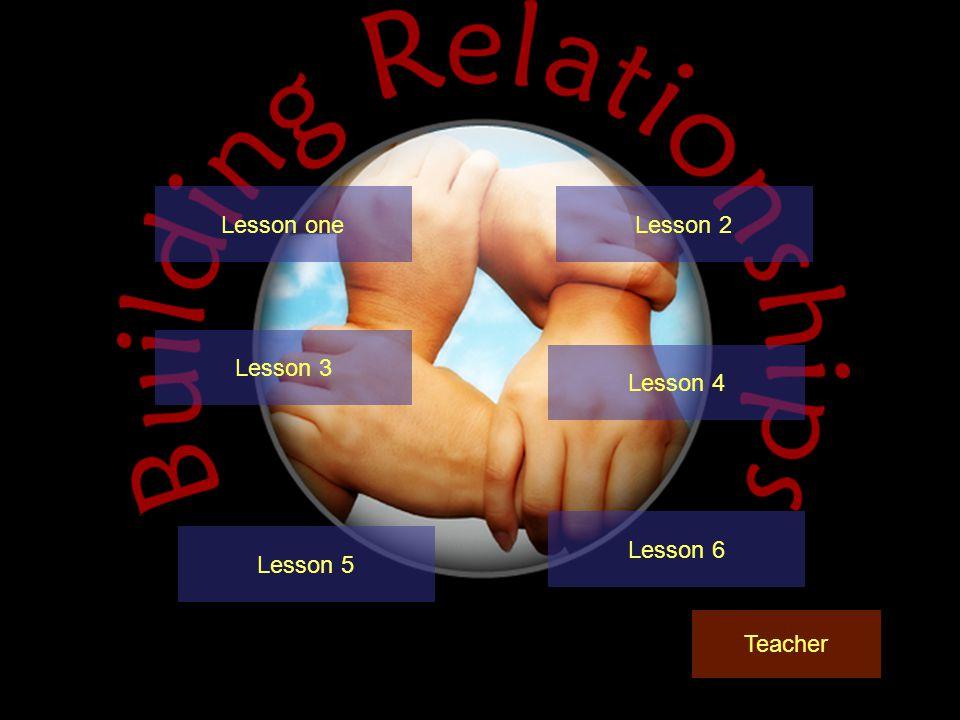 Lesson oneLesson 2 Lesson 3 Lesson 4 Teacher Lesson 6 Lesson 5
