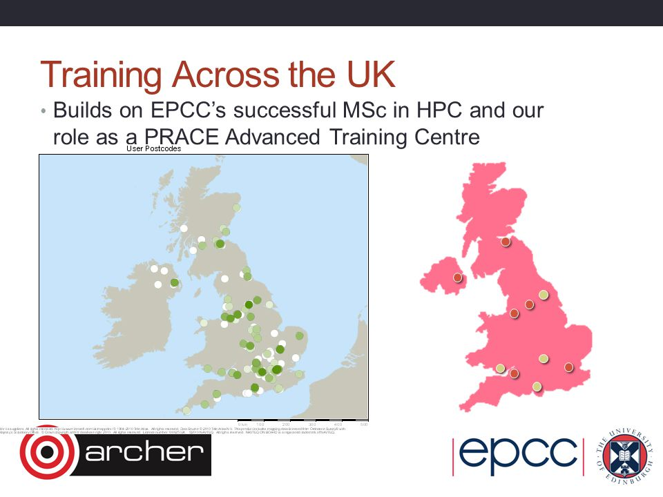 Training Across the UK Builds on EPCC's successful MSc in HPC and our role as a PRACE Advanced Training Centre