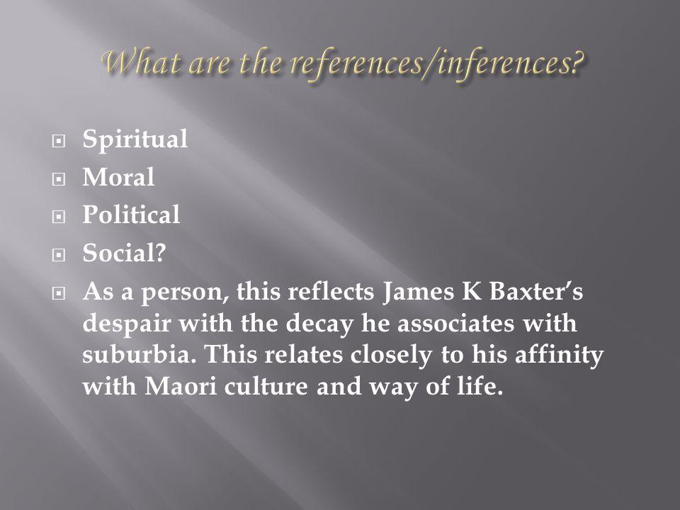  Spiritual  Moral  Political  Social.