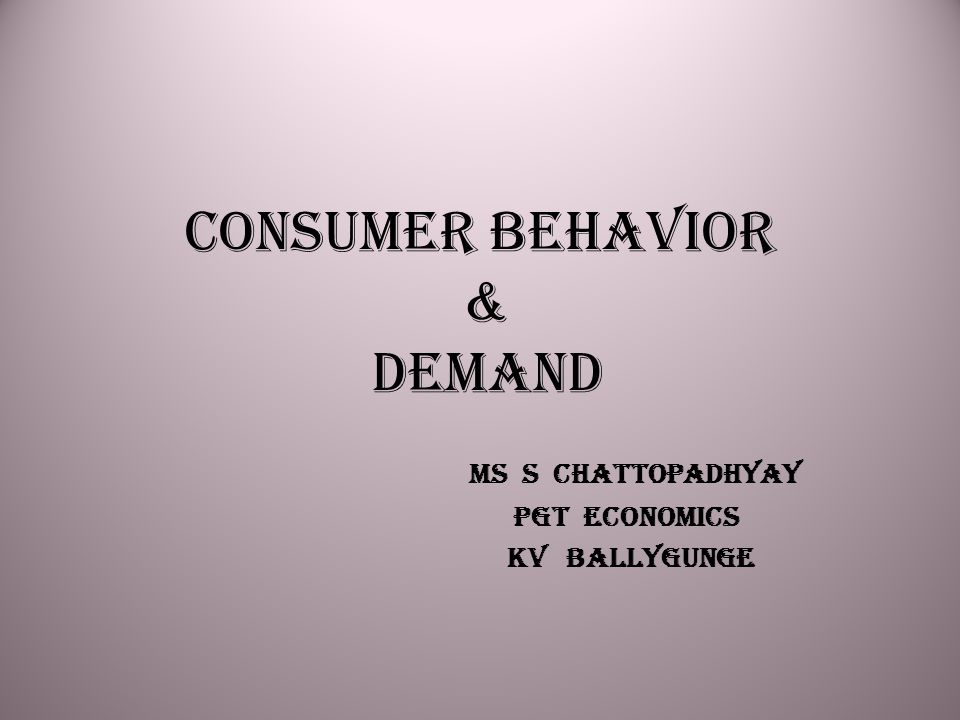 Content Consumer's Equilibrium Theory of Demand Price Elasticity of Demand