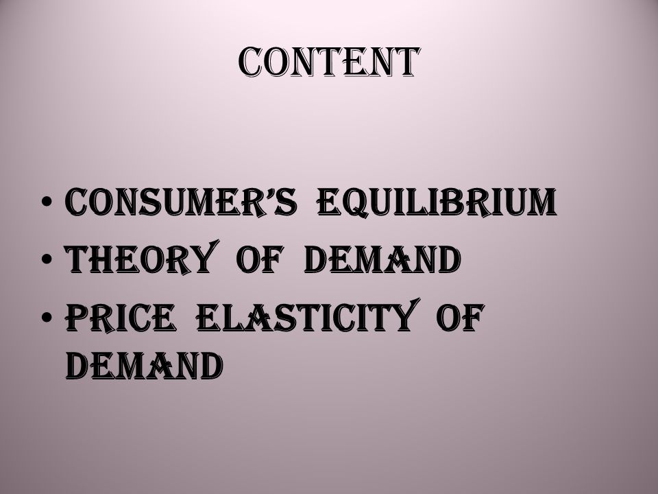 THEORY OF DEMAND Basic Concepts Determinants of Demand Law of demand Change in quantity demanded Change in demand
