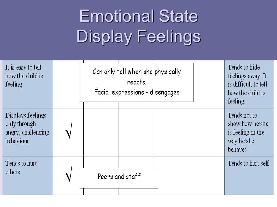 Emotional State Display Feelings