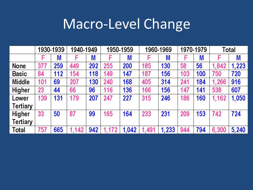 Macro-Level Change