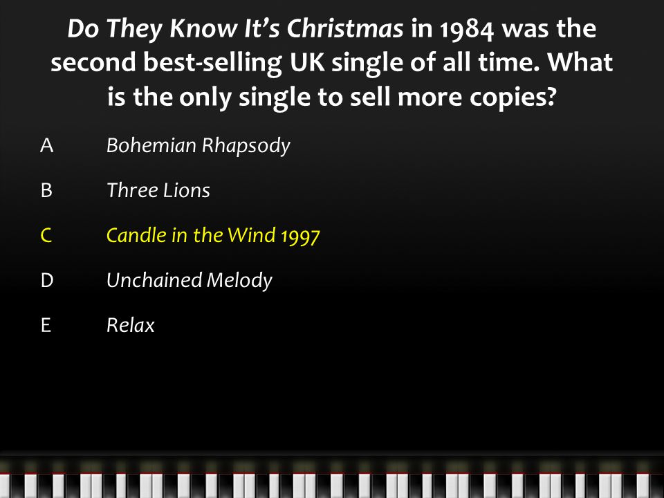 Do They Know It's Christmas in 1984 was the second best-selling UK single of all time.