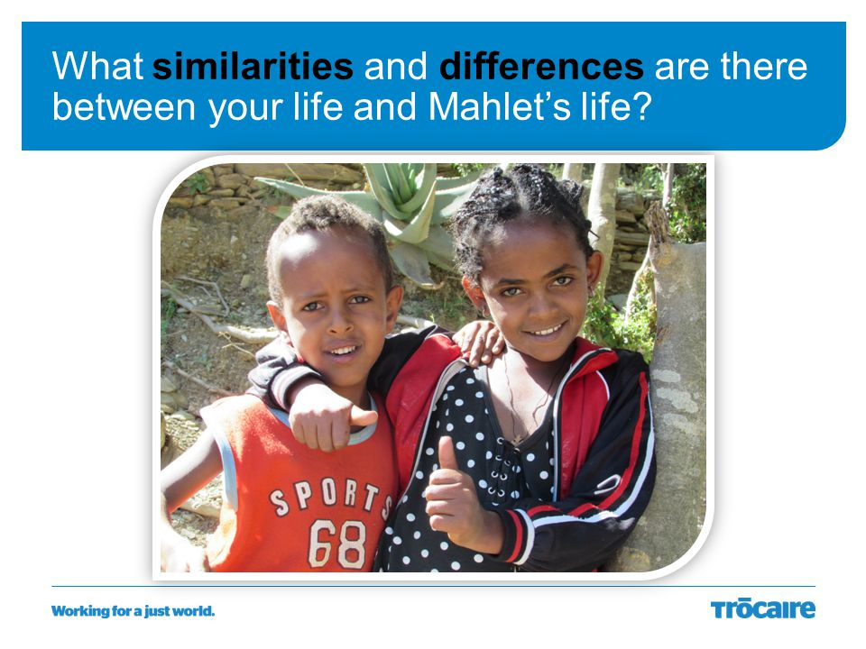 What similarities and differences are there between your life and Mahlet's life?