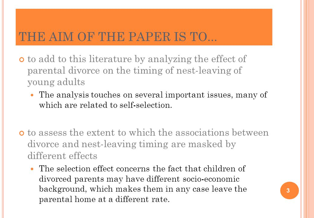STEP 2: E STIMATING THE J OINT DEVELOPMENT AND COHABITATION EFFECTS 24 Children who have (not) experienced widowhood (children who experienced separation/divorce excluded)