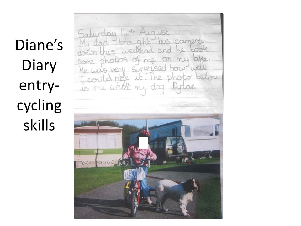 Diane's Diary entry- cycling skills