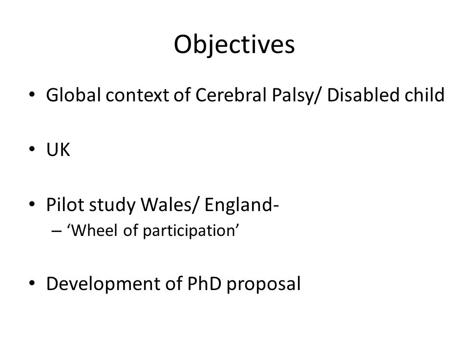 Children with Disabilities Macro- World Health/ Europe Meso-UK Health Policies (& Education) Micro- Child and Family/ Healthcare professionals