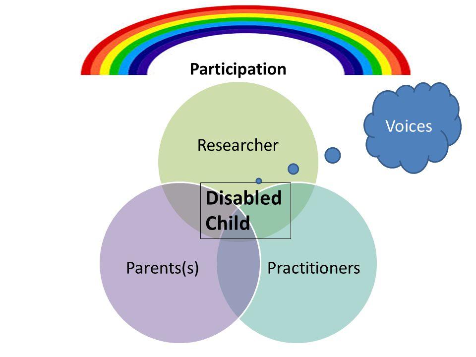 Researcher Practitioners Parents(s) Participation Disabled Child Voices