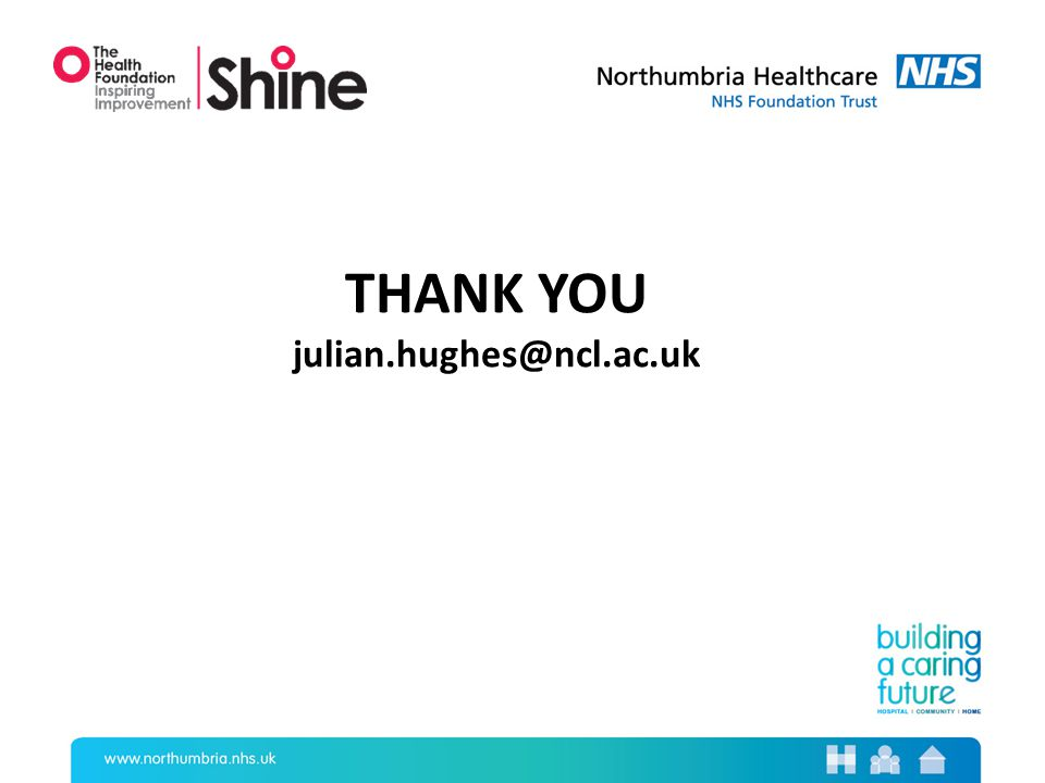 THANK YOU julian.hughes@ncl.ac.uk