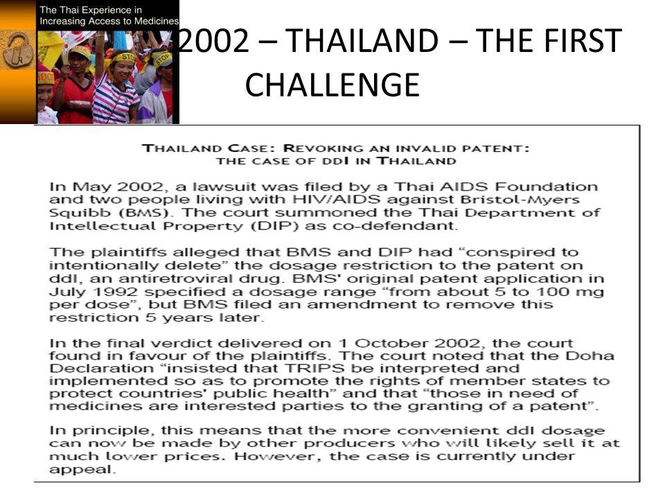 20022002 – THAILAND – THE FIRST CHALLENGE