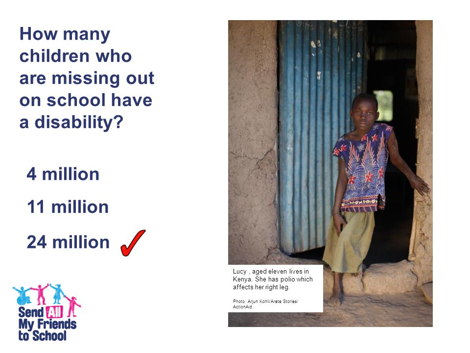 How many children who are missing out on school have a disability.